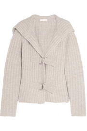 See by Chloé Hooded chunky-knit cardigan