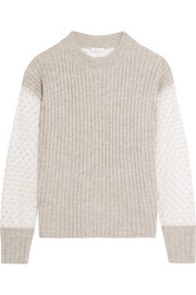 See by Chloé Knitted and embroidered tulle sweater