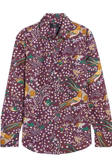 J.Crew - + Drake's Printed Silk-twill Shirt - Merlot