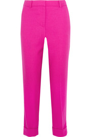 J.Crew Patio cropped wool-twill straight-leg pants