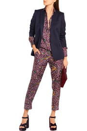 J.Crew + Drake's printed silk-twill straight-leg pants