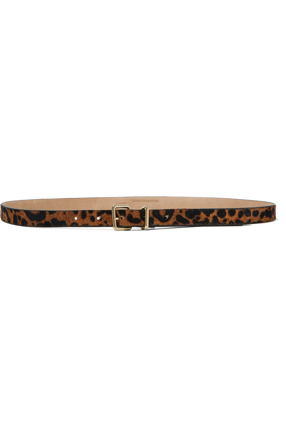 J.Crew Leopard-Print Calf Hair Belt, Leopard Print, Women's, Size: XS