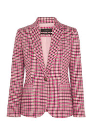 Campbell houndstooth wool-blend blazer