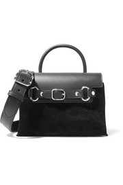 Attica mini leather and suede shoulder bag