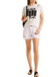 Alexander Wang Romp distressed denim shorts