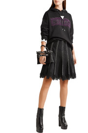 Alexander Wang Embellished frayed tweed skirt