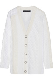Alexander Wang Cable-knit wool-blend cardigan