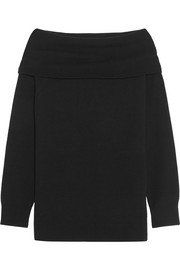 T by Alexander Wang Off-the-shoulder wool and cashmere-blend sweater