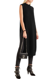 T by Alexander Wang Split-side wool and cashmere-blend midi dress