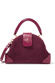 Demi miniature suede and leather shoulder bag