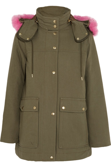 J.Crew - Collection Faux Fur-trimmed Cotton-canvas Parka - Army green