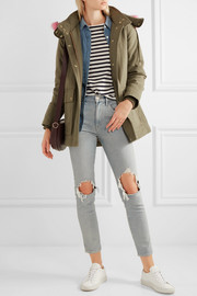 J.Crew Collection faux fur-trimmed cotton-canvas parka