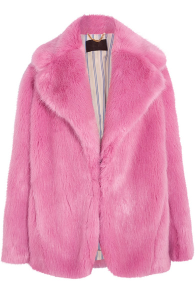 J.Crew - Madison Faux Fur Coat - Pink