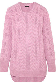 J.Crew Norton cable-knit cashmere and mohair-blend tunic