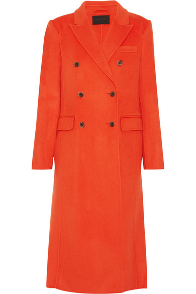 J.Crew - Collection Double-breasted Wool-blend Coat - Bright orange
