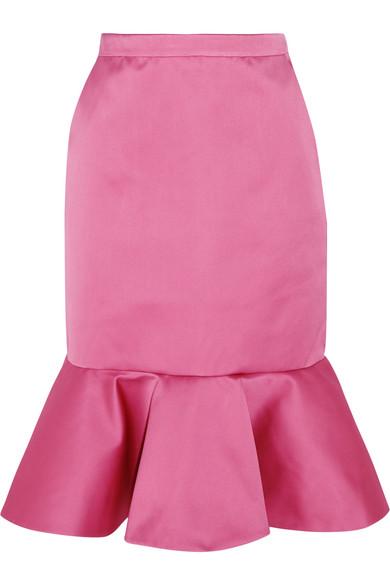 J.Crew - Dante Ruffled Duchesse-satin Skirt - Pink