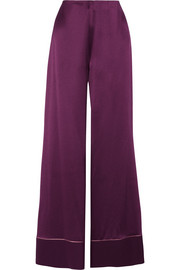 Oldridge silk-satin wide-leg pants