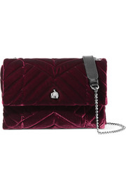Lanvin Sugar mini quilted velvet shoulder bag
