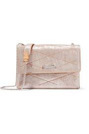 Lanvin Sugar mini metallic cracked-leather shoulder bag