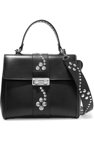 Lanvin Woman Jiji Studded Textured-leather Backpack Black Size Lanvin QVKZZ