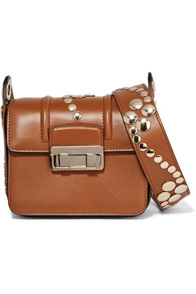 Lanvin - Jiji Mini Studded Leather Shoulder Bag - Brown