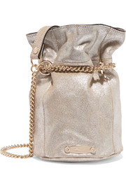 Lanvin Aumoniere metallic textured-leather bucket bag