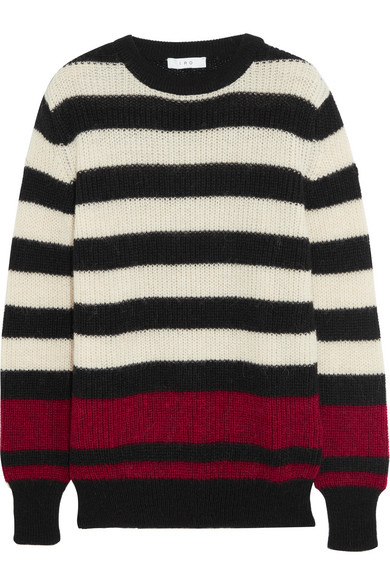IRO - Jaylen Striped Knitted Sweater - Black