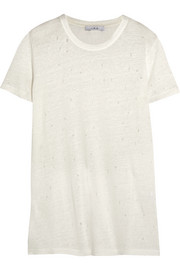 IRO Marvina distressed linen-jersey T-shirt