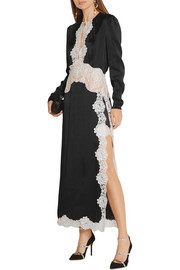 Alessandra Rich Lace-trimmed satin gown