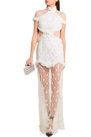 Alessandra Rich In The Mood For Love Chantilly lace gown