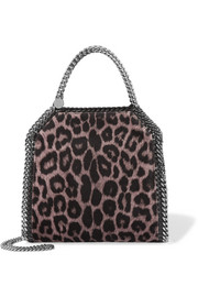 Stella McCartney The Falabella mini leopard-print velvet shoulder bag