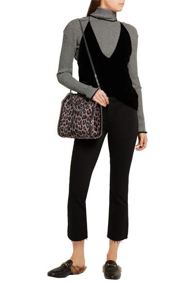 6d0e919acaa3 Stella McCartney. The Falabella mini leopard-print velvet shoulder bag