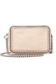 Stella McCartney The Falabella Camera faux brushed-suede shoulder bag