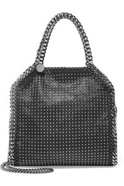 The Falabella mini studded faux brushed-leather shoulder bag