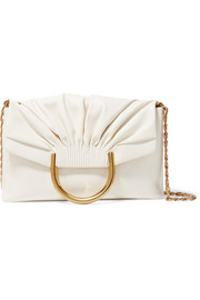 Nina small faux leather clutch