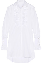 Boyfriend ruffled cotton-poplin shirt