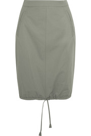 Cotton-gabardine pencil skirt