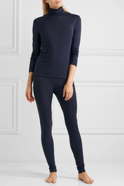 Silk and cashmere-blend jersey leggings