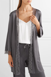 Ginevra lace-trimmed modal-jersey robe