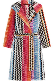 Missoni Home Stan hooded cotton terry robe