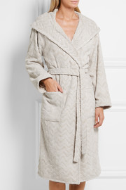 Rex hooded cotton terry robe