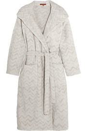 Missoni Home Rex hooded cotton terry robe