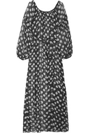 Scent of Mykonos polka-dot silk-chiffon nightdress