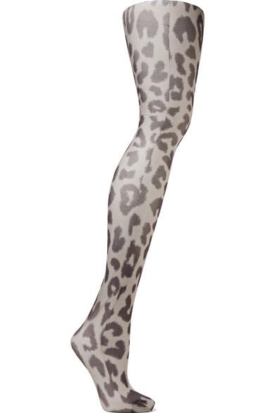 Acne Studios - Kanne Leo B Leopard-print Tights - Leopard print