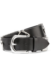 Faithful embellished leather belt