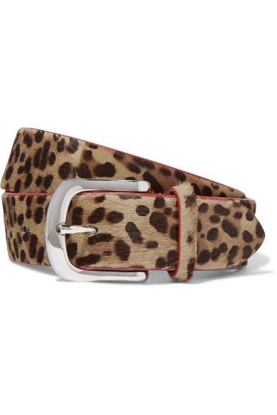 Iabel Marant - Ronn Leopard-print Calf Hair Belt - Leopard print
