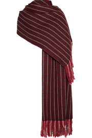 Isabel Marant Arly striped wool, cashmere and silk-blend scarf