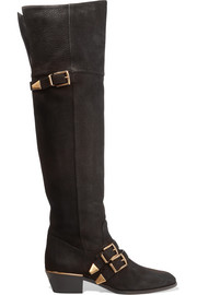 Susanna textured-leather over-the-knee boots