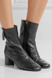 Chloé Paneled leather ankle boots