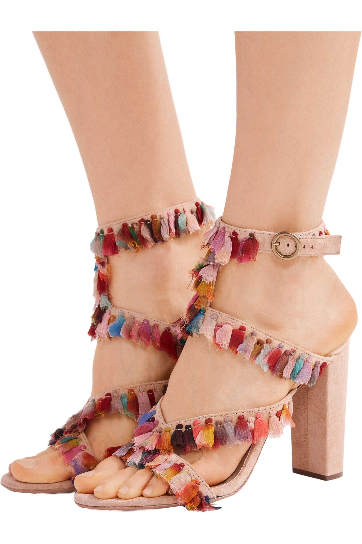 Chloé Tasseled suede sandals